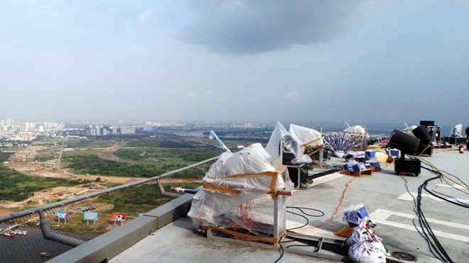 Bệ pháo hoa ở sân trực thăng tòa nhà cao nhất Sài Gòn - ảnh 6