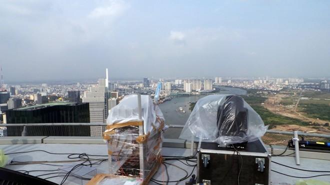 Bệ pháo hoa ở sân trực thăng tòa nhà cao nhất Sài Gòn - ảnh 7