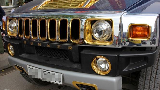 Lóa mắt với Phantom và Hummer H2 mạ vàng ở Hà thành - ảnh 3
