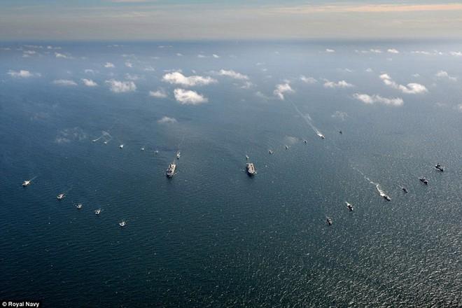 Tận thấy chiến hạm rầm rộ tới tập trận lớn nhất của NATO - ảnh 1