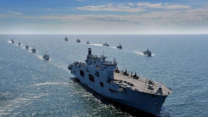 Tận thấy chiến hạm rầm rộ tới tập trận lớn nhất của NATO - ảnh 5