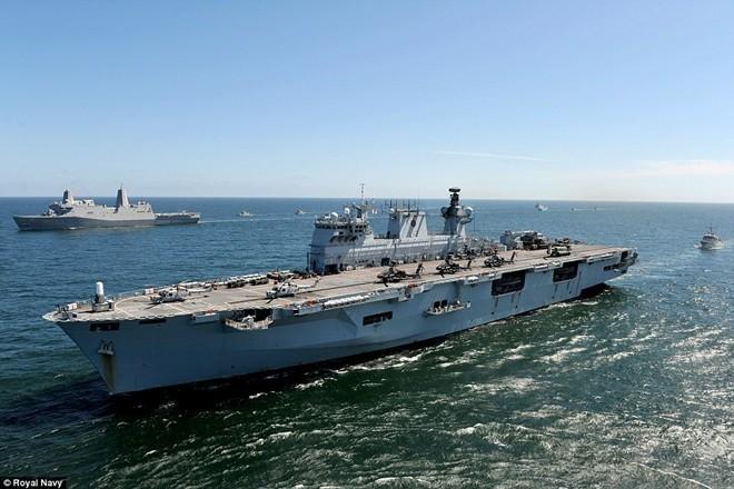Tận thấy chiến hạm rầm rộ tới tập trận lớn nhất của NATO - ảnh 6