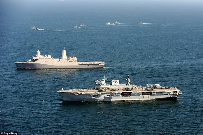 Tận thấy chiến hạm rầm rộ tới tập trận lớn nhất của NATO - ảnh 7