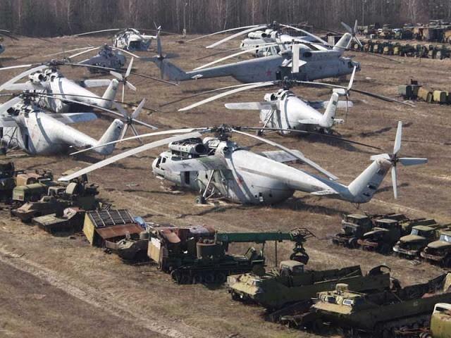 Nghĩa địa trực thăng, xe cứu hỏa sau thảm họa Chernobyl - ảnh 1