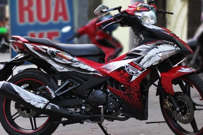Lóa mắt với Exciter 150 phong cách chim ưng của biker Sài Gòn - ảnh 4
