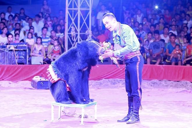 Khán giả thị xã Sơn Tây ùn ùn đội mưa đi xem xiếc lưu động - ảnh 9