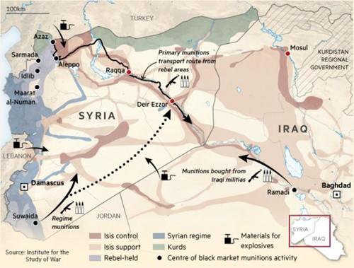 Hé lộ nguồn cung cấp đạn dược cho lực lượng IS - ảnh 2