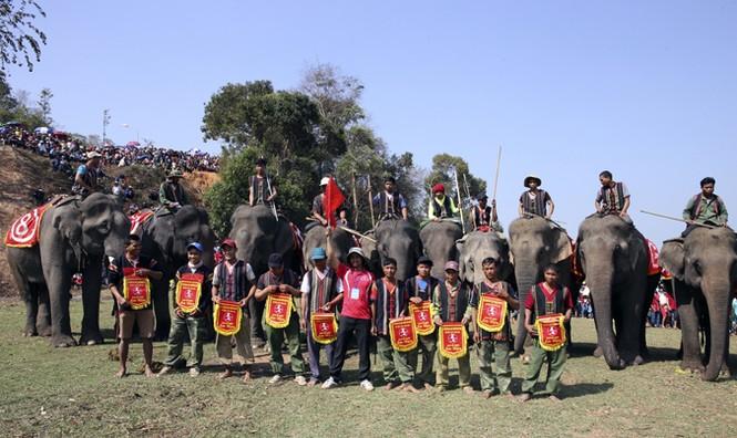 Hàng chục chú voi 'đeo áo số'... thi chạy, vượt hồ - ảnh 8