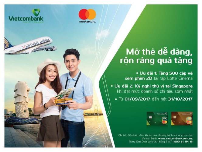 Nhiều ưu đãi hấp dẫn dành tặng chủ thẻ tín dụng Vietcombank MasterCard - ảnh 1