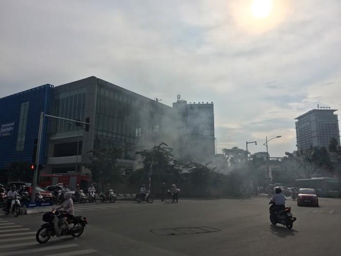 Cháy trong công trường nhà ga đường sắt Cát Linh - Hà Đông - ảnh 1