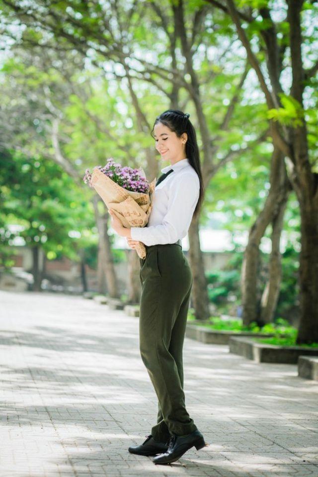 Hoa khôi Đại học An ninh hãnh diện vì vẻ đẹp đặc trưng của người Khmer - ảnh 4