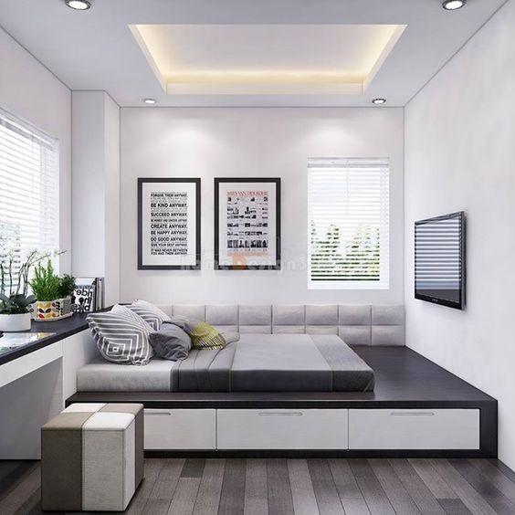 Phòng ngủ nổi bật cho nhà phố hẹp nhờ biến tấu cổ điển và cây xanh - ảnh 5