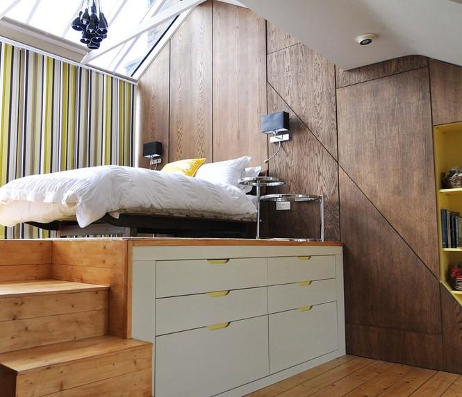 Những kiểu giường đột phá về thiết kế và sự tiện dụng cho phòng ngủ tý hon - ảnh 7