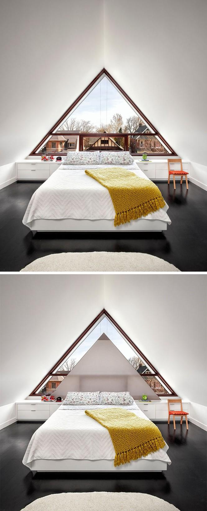 Mẫu nhà mái tam giác 2 tầng đẹp long lanh với chi phí thấp - ảnh 3