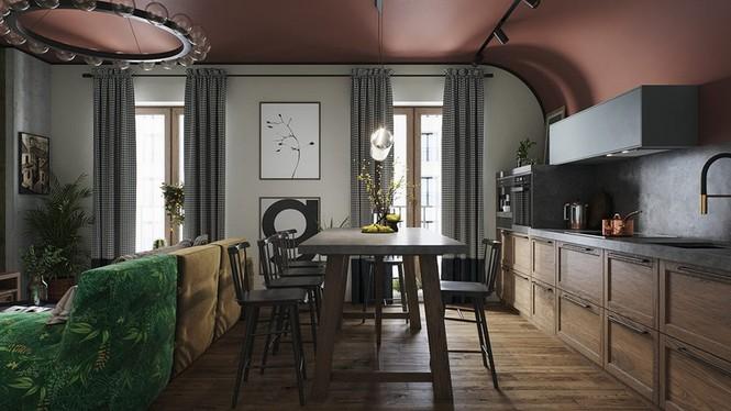 Vẻ đẹp khác lạ của căn chung cư có cách trang trí 'không giống ai' - ảnh 2