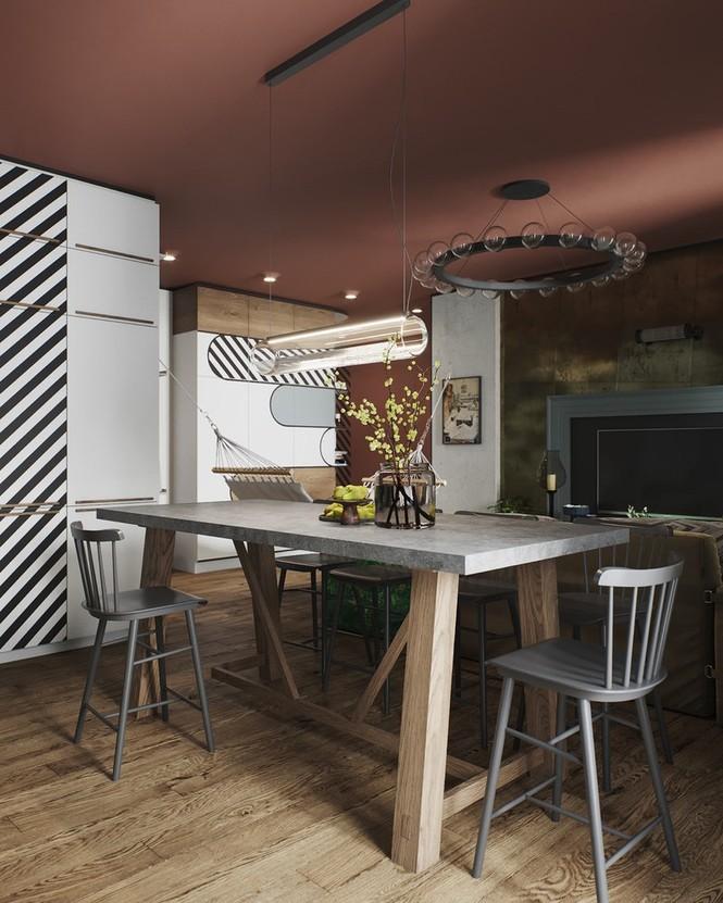 Vẻ đẹp khác lạ của căn chung cư có cách trang trí 'không giống ai' - ảnh 3