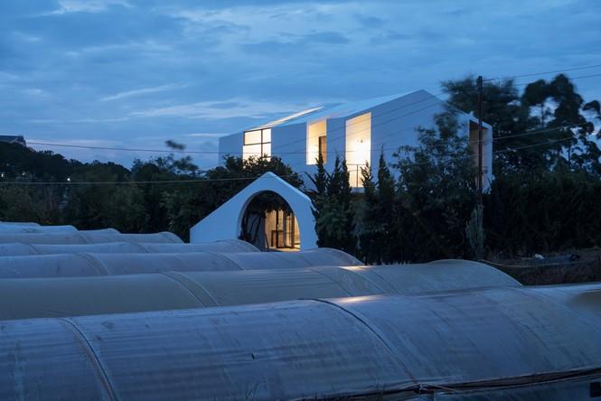 Ngôi nhà hình khối khác lạ đẹp mê mẩn giữa rừng thông - ảnh 1