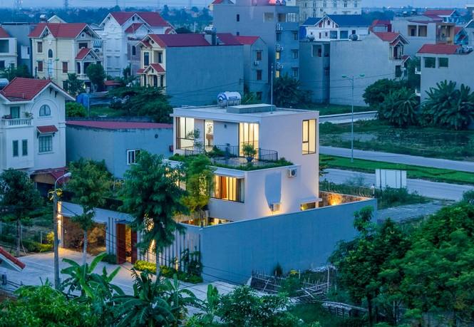 Mê mẩn ngôi nhà 3 tầng đan xen khu vườn xanh mướt - ảnh 11