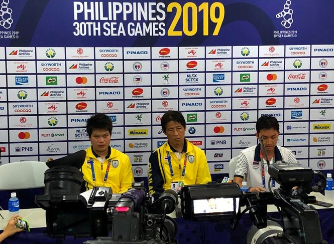 Báo chí 'quây' HLV Nishino sau khi Thái Lan bị loại khỏi SEA Games 30 - ảnh 1