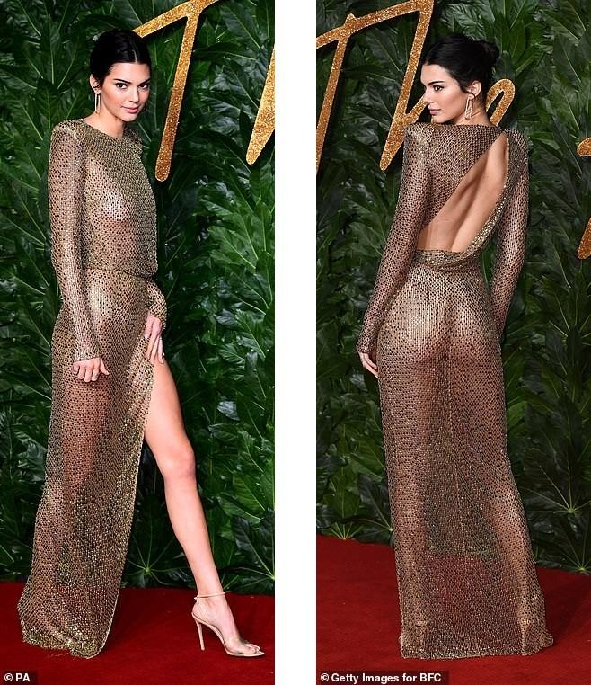 Kendall Jenner diện đầm xuyên thấu không nội y 'náo loạn' sự kiện - ảnh 4
