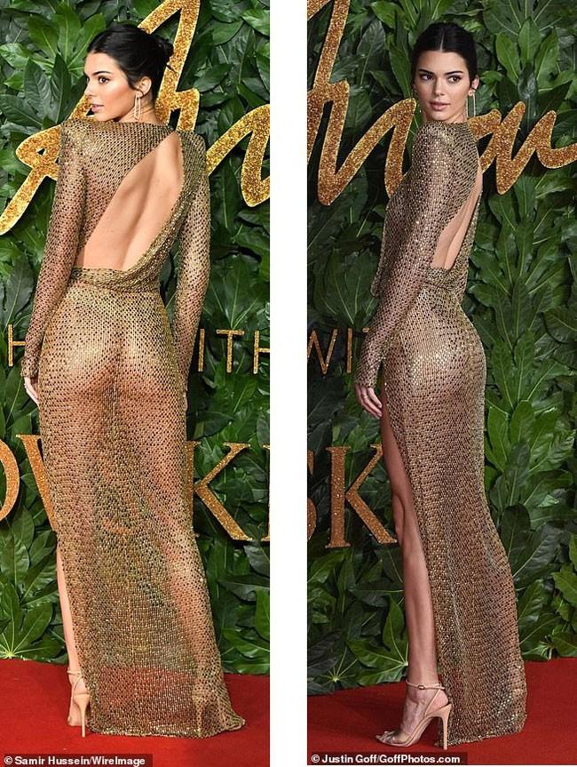 Kendall Jenner diện đầm xuyên thấu không nội y 'náo loạn' sự kiện - ảnh 7