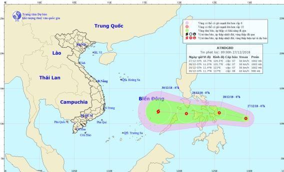 Áp thấp nhiệt đới sắp vào Biển Đông, khả năng mạnh lên thành bão - ảnh 1