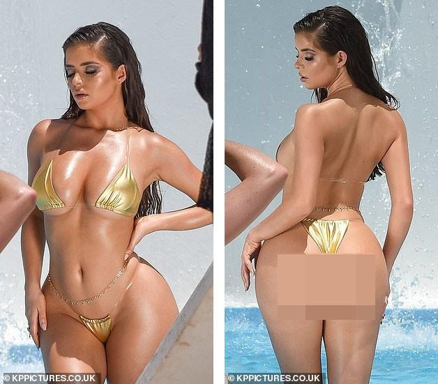 Hậu trường chụp bikini 'nóng bỏng mắt' của siêu mẫu nội y Demi Rose - ảnh 2