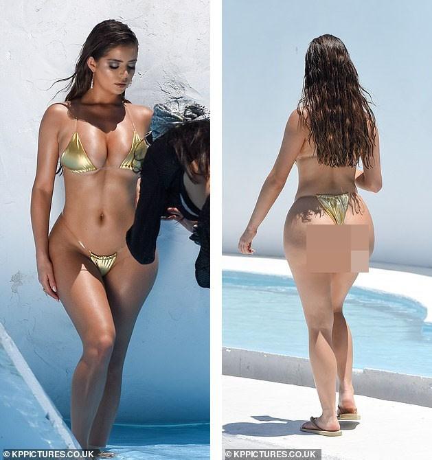 Hậu trường chụp bikini 'nóng bỏng mắt' của siêu mẫu nội y Demi Rose - ảnh 5