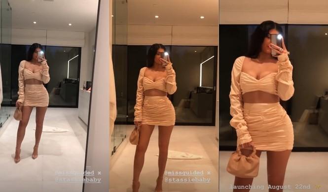 Kylie Jenner diện váy 'hở trên, ngắn dưới' khoe đường cong nóng bỏng - ảnh 5