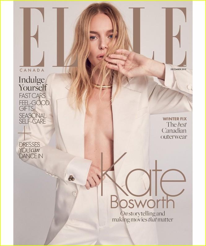 Mỹ nhân Kate Bosworth phanh áo khoe ngực trần trên bìa tạp chí - ảnh 1