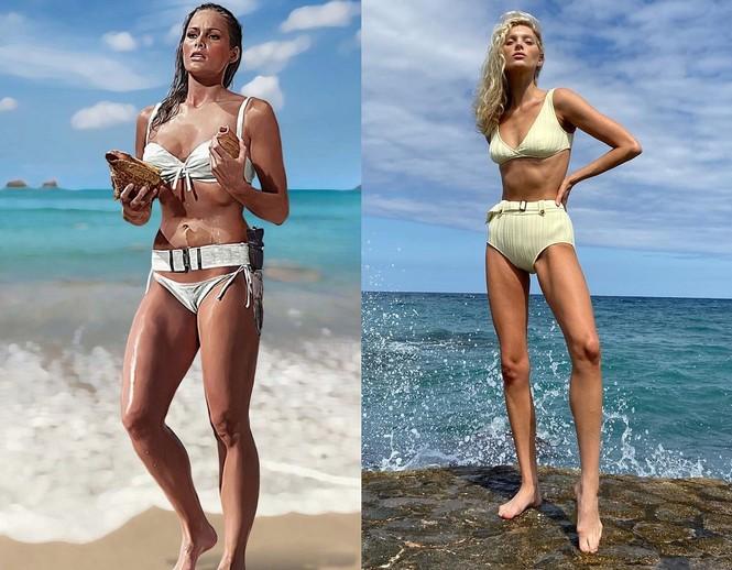Hoá thân thành Bond girl sexy trên biển, 'thiên thần Thuỵ Điển' bất ngờ bị chê - ảnh 2
