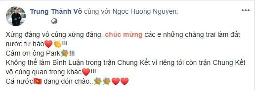 Phát 'sốt' với muôn kiểu ăn mừng Việt Nam vô địch bóng đá SEA Games của sao Việt - ảnh 2