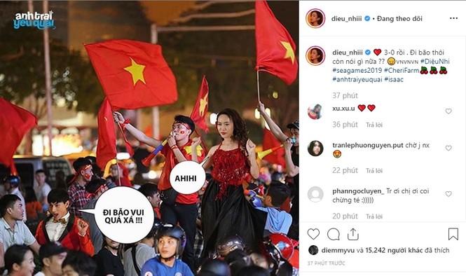 Phát 'sốt' với muôn kiểu ăn mừng Việt Nam vô địch bóng đá SEA Games của sao Việt - ảnh 5