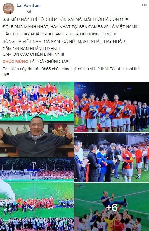 Sau tuyên bố 'sốc', MC Lại Văn Sâm gọi tên cầu thủ đá hay nhất SEA Games 30  - ảnh 1