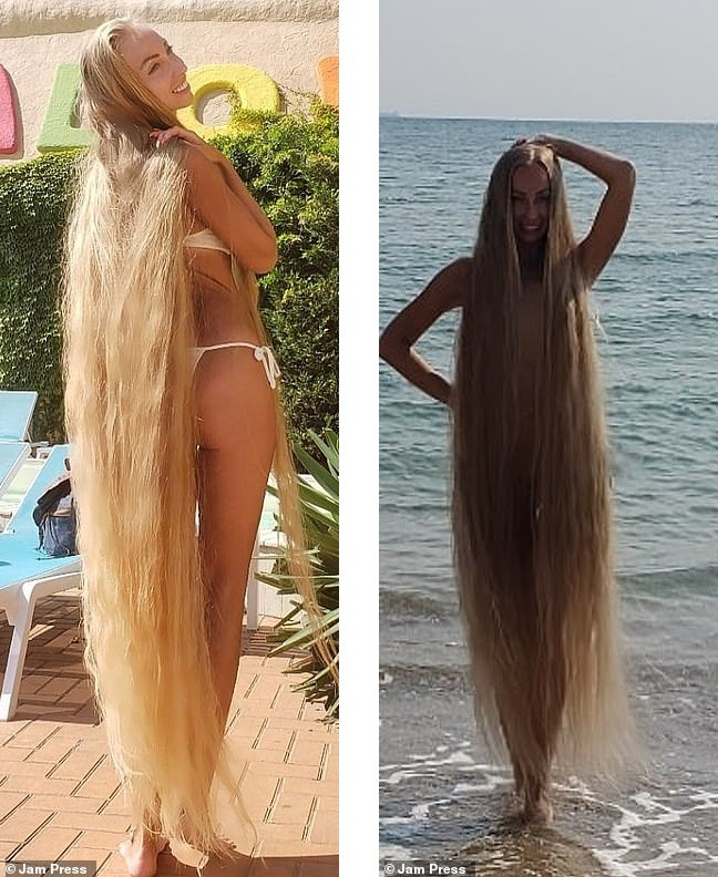 'Nàng Rapunzel đời thực' được đàn ông săn đón vì mái tóc dài gần 2m - ảnh 5