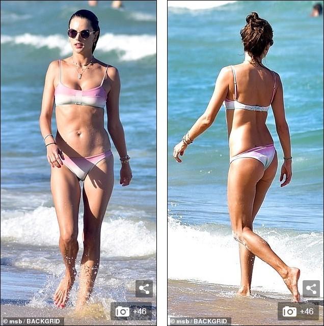 Alessandra Ambrosio mặc bikini đôi với con gái, hôn đắm đuối bạn trai  - ảnh 10