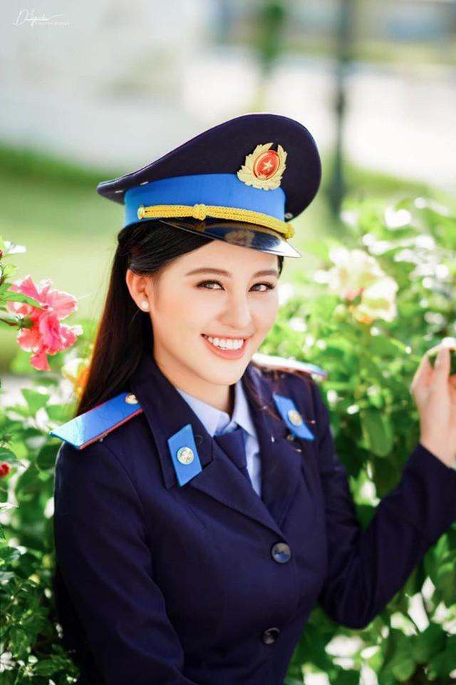 Nữ sinh 2 lần thi hoa hậu, tốt nghiệp Học viện Cảnh sát loại giỏi - ảnh 1