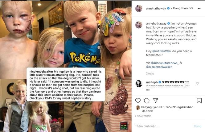 Loạt sao Hollywood ca ngợi cậu bé 6 tuổi liều mình cứu em khỏi chó dữ - ảnh 2