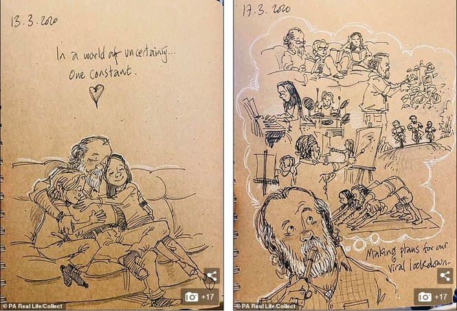 'Nhật ký vẽ nguệch ngoạc' của họa sĩ già về vợ đã mất chạm đến trái tim người đọc - ảnh 2