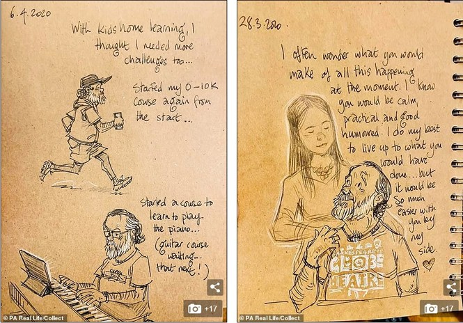 'Nhật ký vẽ nguệch ngoạc' của họa sĩ già về vợ đã mất chạm đến trái tim người đọc - ảnh 4