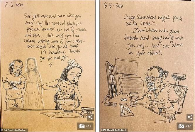 'Nhật ký vẽ nguệch ngoạc' của họa sĩ già về vợ đã mất chạm đến trái tim người đọc - ảnh 3