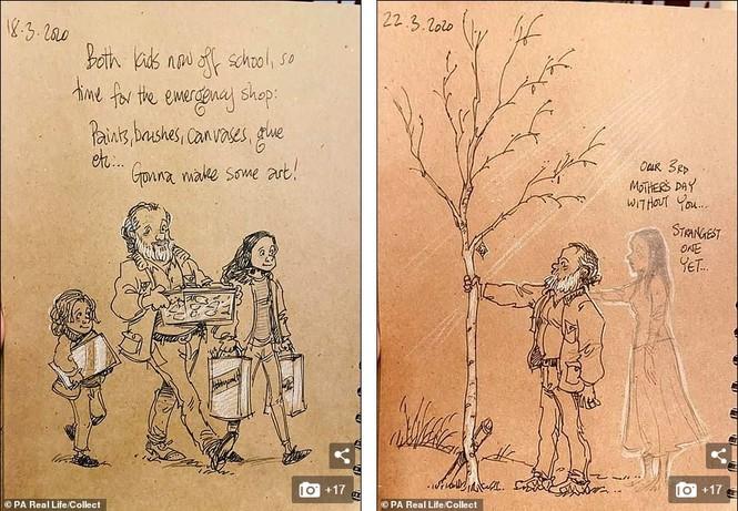 'Nhật ký vẽ nguệch ngoạc' của họa sĩ già về vợ đã mất chạm đến trái tim người đọc - ảnh 5