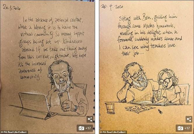 'Nhật ký vẽ nguệch ngoạc' của họa sĩ già về vợ đã mất chạm đến trái tim người đọc - ảnh 7