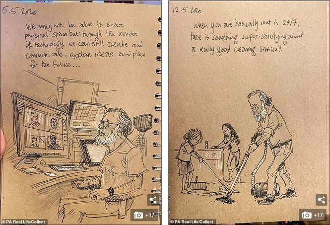 'Nhật ký vẽ nguệch ngoạc' của họa sĩ già về vợ đã mất chạm đến trái tim người đọc - ảnh 8