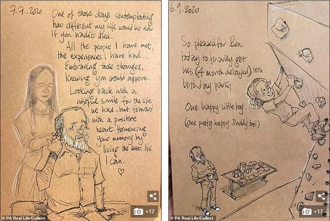 'Nhật ký vẽ nguệch ngoạc' của họa sĩ già về vợ đã mất chạm đến trái tim người đọc - ảnh 6