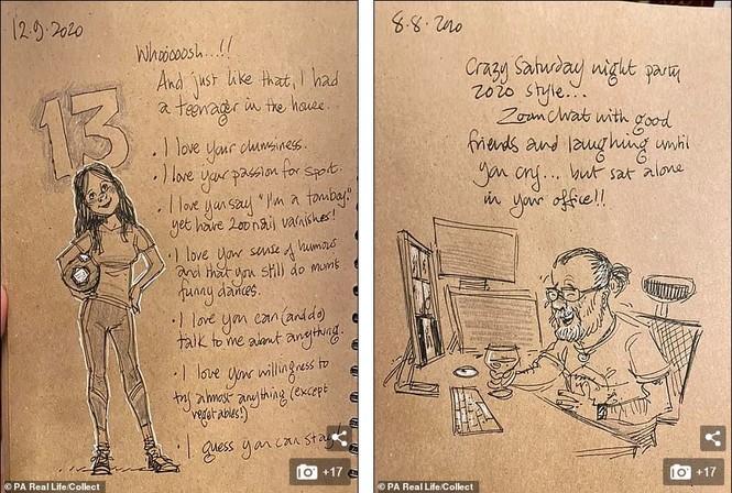 'Nhật ký vẽ nguệch ngoạc' của họa sĩ già về vợ đã mất chạm đến trái tim người đọc - ảnh 9