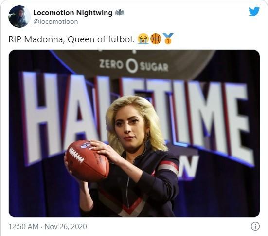 Huyền thoại Maradona qua đời, dân mạng lại tưởng nhớ Madonna và gọi là 'nữ hoàng bóng đá' - ảnh 2