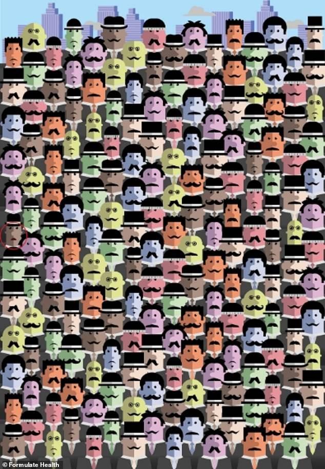 Trò chơi 'Hack não': Tìm người đàn ông không có ria mép trong 10 giây - ảnh 1