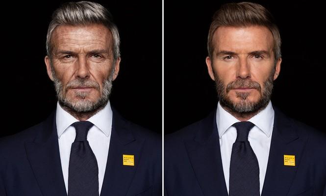 David Beckham bất ngờ hóa ông lão 70 tuổi - ảnh 1