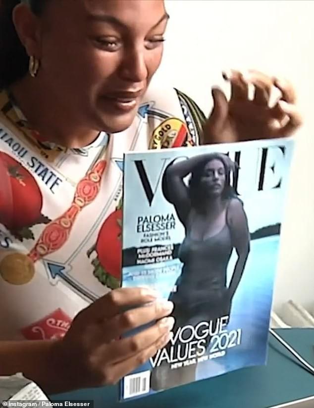 Mẫu nữ da màu ngoại cỡ mặc váy mỏng tang cực gợi cảm trên bìa Vogue - ảnh 5